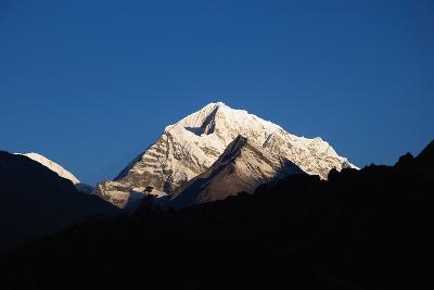 Sunrise on the Summits Above Namche Bazaar, Nepal-Design Pics Inc-Photographic Print