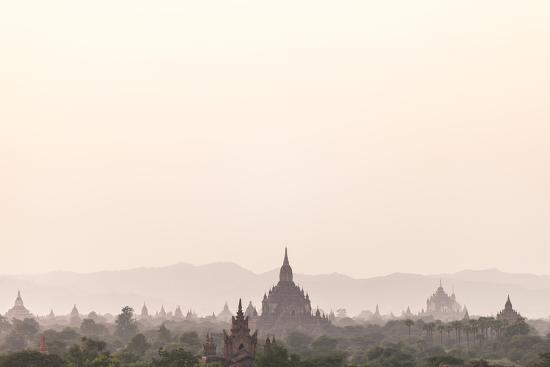 Sunrise over Ancient Temples of Bagan, Myanmar-Harry Marx-Photographic Print