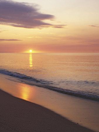 Sunrise over Atlantic, Cape Cod National Seashore, Massachusetts, USA-Charles Gurche-Photographic Print