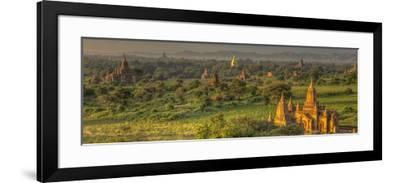 Sunrise over Bagan. Seen from Shwesandaw Pagoda. Bagan. Myanmar-Tom Norring-Framed Photographic Print