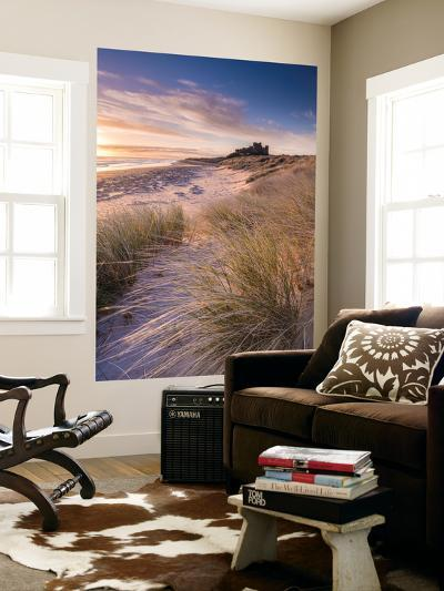 Sunrise over Bamburgh Castle, Northumberland, England. Spring-Adam Burton-Wall Mural