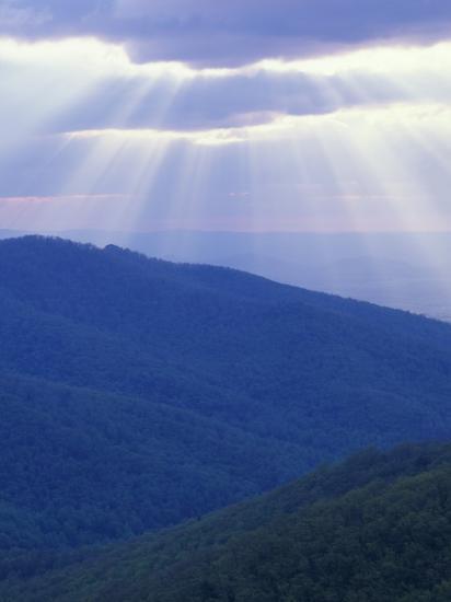 Sunrise over Buck Hollow, Shenandoah National Park, Virginia, USA-Charles Gurche-Photographic Print