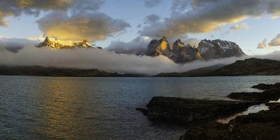 Sunrise over Cuernos Del Paine-G & M Therin-Weise-Photographic Print