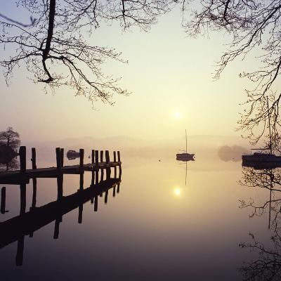 Sunrise Over Derwentwater-Charles Bowman-Photographic Print