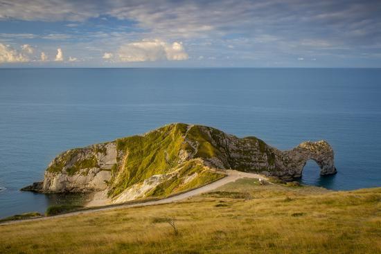 Sunrise over Durdle Door and the Jurassic Coast, Dorset, England-Brian Jannsen-Photographic Print