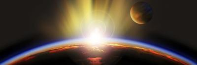 Sunrise over Earth--Photographic Print