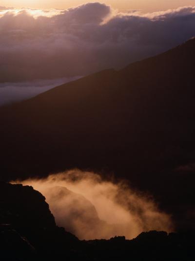 Sunrise Over Haleakala Crater, Haleakala National Park, Maui, Hawaii, USA-Lawrence Worcester-Photographic Print