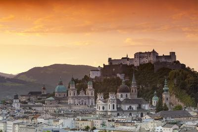 Sunrise over Hohensalzburg Fortress and Alt Stadt, Salzburg, Salzburger Land, Austria, Europe-Doug Pearson-Photographic Print