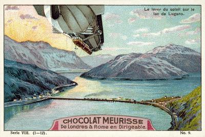 Sunrise over Lake Lugano--Giclee Print