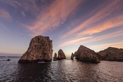 Sunrise over Land's End, Finnisterra, Cabo San Lucas, Baja California Sur, Mexico, North America-Michael Nolan-Photographic Print