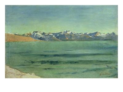 Sunrise over Mont Blanc, C.1890-Ferdinand Hodler-Giclee Print
