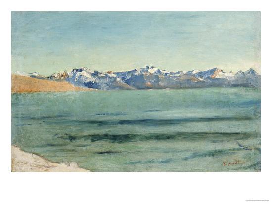 Sunrise over Mont Blanc-Ferdinand Hodler-Giclee Print