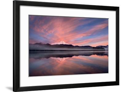 Sunrise Over Mount Baker-Alan Majchrowicz-Framed Photo
