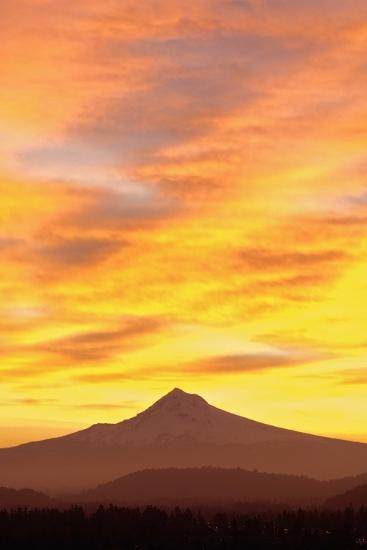 Sunrise over Mount Hood, Portland, Oregon, USA-Design Pics Inc-Photographic Print