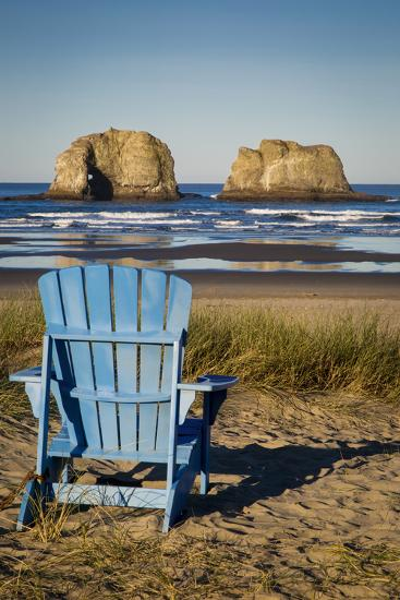 Sunrise over One of the Twin Rocks, Near Rockaway, Oregon, USA-Brian Jannsen-Photographic Print