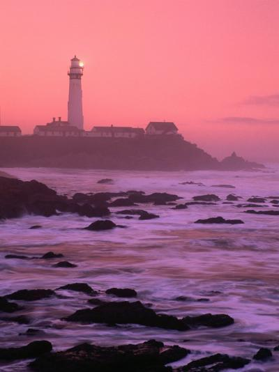 Sunrise Over Pigeon Point Lighthouse of San Mateo County, San Francisco, California, USA-Stephen Saks-Photographic Print