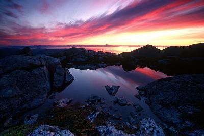 Sunrise over Pond Short Arm Peak Prince of Wales Is Ak Se Summer-Design Pics Inc-Photographic Print