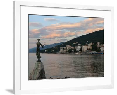 Sunrise over Resort, Opatija, Kvarner Gulf, Croatia, Adriatic, Europe-Stuart Black-Framed Photographic Print