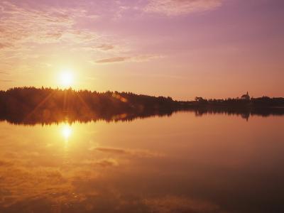 Sunrise Over Saint Peters, Cape Breton, Nova Scotia, Canada-Mike Grandmaison-Photographic Print