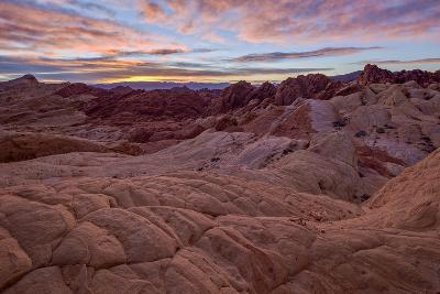 Sunrise over Sandstone Formations, Valley of Fire State Park, Nevada-James Hager-Photographic Print