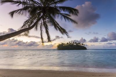 Sunrise over Small Islet, Rarotonga, Cook Islands-Matteo Colombo-Photographic Print