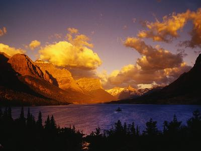 Sunrise over St. Mary Lake-Darrell Gulin-Photographic Print