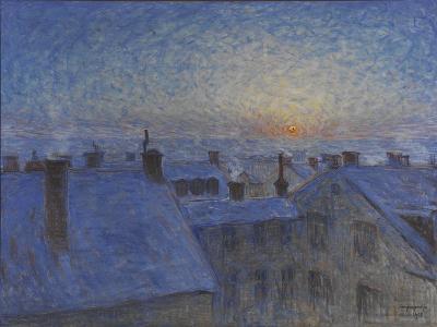 Sunrise over Stockholm Rooftops, 1903-Eugene Jansson-Giclee Print