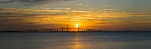 Sunrise over Sunshine Skyway Bridge, Tampa Bay, Florida, USA