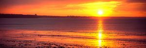 Sunrise over the Beach, Cap Coz, Fouesnant, Finistere, Brittany, France