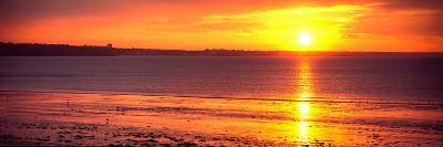 Sunrise over the Beach, Cap Coz, Fouesnant, Finistere, Brittany, France--Photographic Print