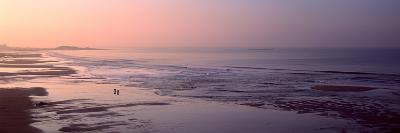 Sunrise over the Beach, Fort Bloque Beach, Guidel, Morbihan, Brittany, France--Photographic Print