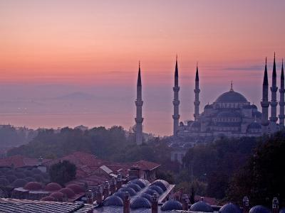Sunrise Over the Blue Mosque, Istanbul, Turkey-Joe Restuccia III-Photographic Print