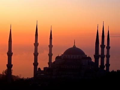 Sunrise Over the Blue Mosque, Istanbul, Turkey-Joe Restuccia III-Photographic Print