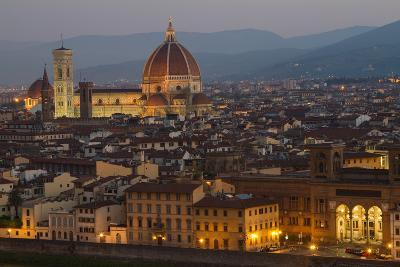 Sunrise over the Duomo and Florence Cathedral-Erika Skogg-Photographic Print