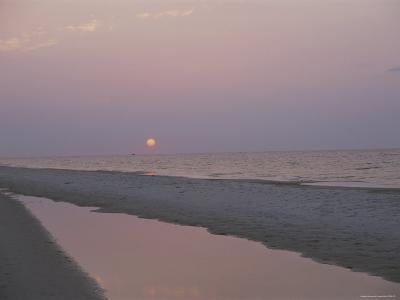 Sunrise over the Gulf of Mexico and an Alabama Beach-Medford Taylor-Photographic Print