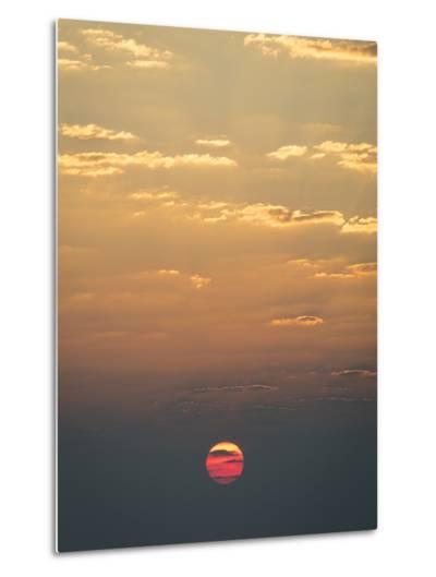 Sunrise over the Indian Ocean-Jeff Mauritzen-Metal Print