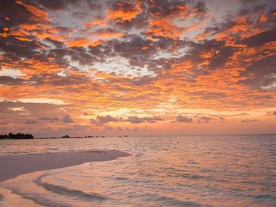 Sunrise over the Maldive Islands-Frank Lukasseck-Photographic Print