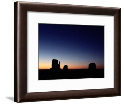 Sunrise over the Mitten Buttes in Monument Valley-Michael Nichols-Framed Photographic Print