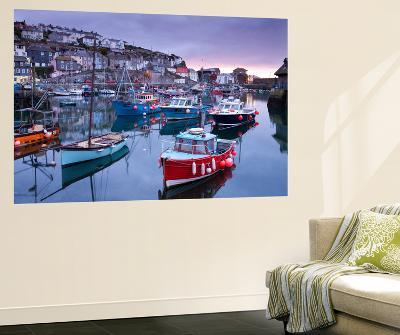 Sunrise over the Picturesque Harbour at Mevagissey, Cornwall, England. Spring-Adam Burton-Wall Mural