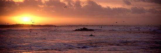 Sunrise over the Plouharnel Beach, Morbihan, Brittany, France--Photographic Print
