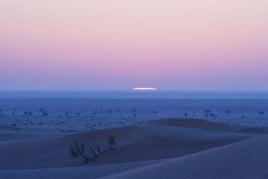 Sunrise over the Sand Dunes of the Rub' Al Khali, the Empty Quarter, Oman-Bill Hatcher-Photographic Print