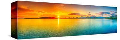 Sunrise Over The Sea Panorama--Stretched Canvas Print