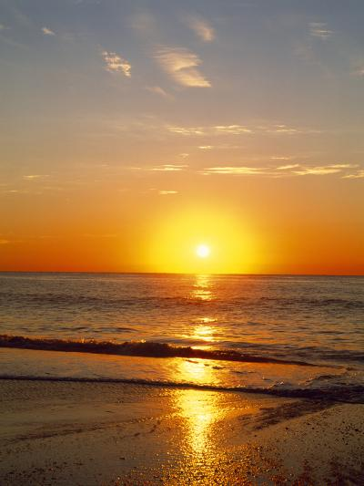 Sunrise Over the Sea--Photographic Print