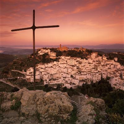 Sunrise over Typical White Andalucian Village, Casares, Andalucia, Spain, Europe-Stuart Black-Photographic Print