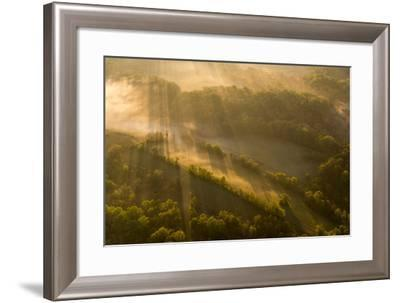 Sunrise over Woodlawn, a Tract of Upland Meadows and Woods-Michael Melford-Framed Photographic Print