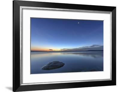 Sunrise over Yellowstone Lake, Yellowstone National Park, Wyoming, USA-Tom Norring-Framed Photographic Print