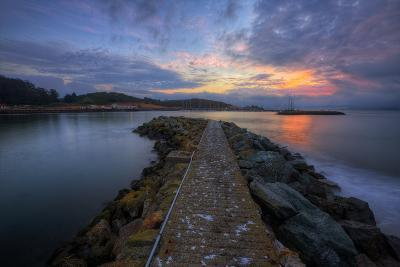 Sunrise Pier at Fort Baker, Sausalito California--Photographic Print