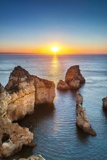 Sunrise, Ponta De Piedade, Lagos, Algarve, Portugal-Sabine Lubenow-Photographic Print