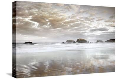 Sunrise Reflections-Dennis Frates-Stretched Canvas Print