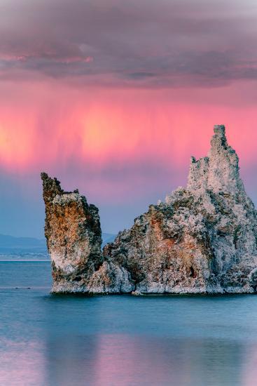 Sunrise Ship Storm Mono Lake, Eastern Sierras, California-Vincent James-Photographic Print